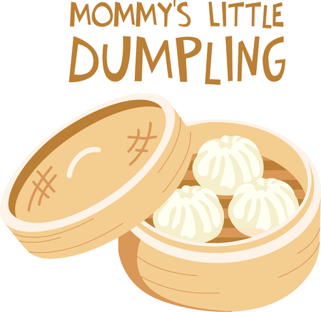 dumpling: This Chinese dumpling is perfect for your next design.