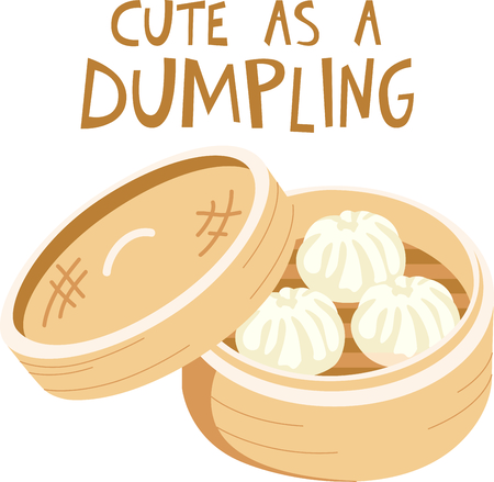 This Chinese dumpling is perfect for your next design. Stock Vector - 43867842