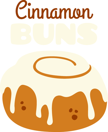 cinnamon: Frosted cinnamon bun for the sweet breakfast eater.