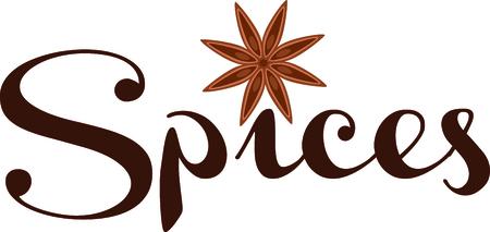 Anijs, ster, anijs, kruiden, fruit, planten, kruiden, smaak, koken, Stock Illustratie