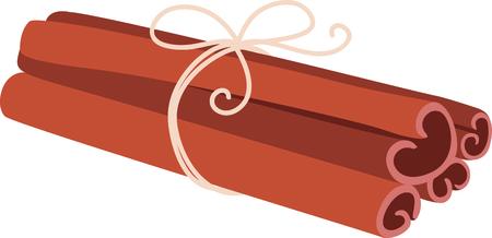 Tied cinnamon sticks for the culinary aficionado.