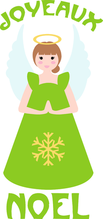 This cute snowflake angel is perfect for church or Christmas decorating.