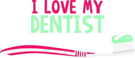 이 칫솔 이미지를 사용하여 아이들에게 이빨을 닦을 것을 상기시킵니다. 일러스트