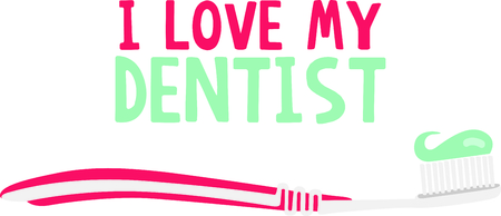 Use this toothbrush image to remind the kids to brush their teeth.