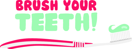 hygienist: Use this toothbrush image to remind the kids to brush their teeth.
