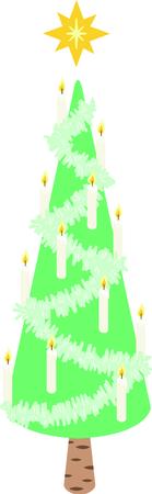 この星を突破したクリスマス ツリーは若干抽象的なデザインが好きな人に最適です。