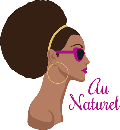 Show off your love for natural styles with a beautiful lady.