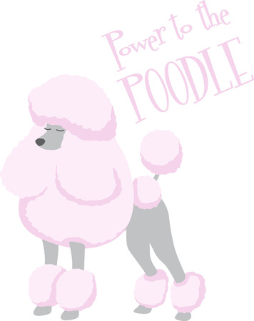 animal lover: Un caniche de color rosa es un gran perro para un amante de los animales. Vectores