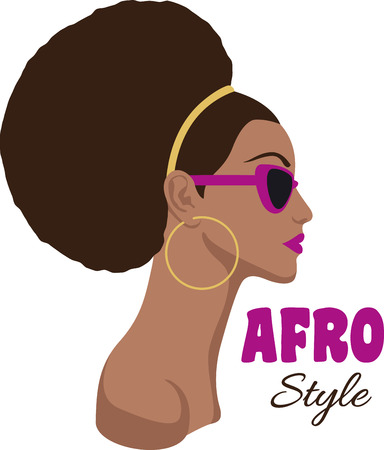 black american: Show off your love for natural styles with a beautiful lady.