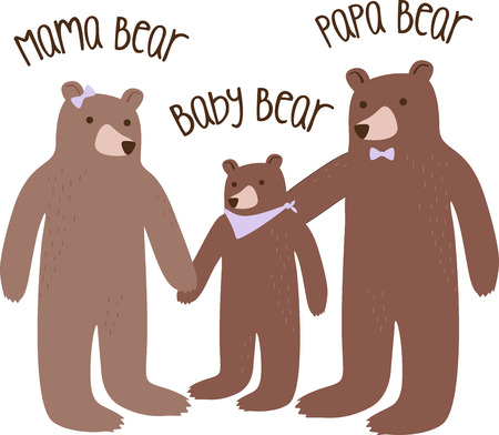 A sweet bear and butterflies are a great nature project.
