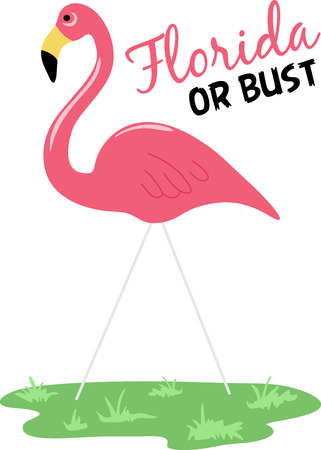 fowls: A flamingo is a classic summer time beach decoration. Illustration