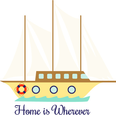 clipper: Use this wooden clipper ship for all your sailing projects. Illustration