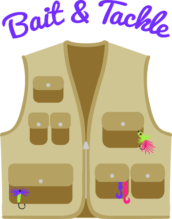 Every fly fisherman needs a vest for their flies and hooks.  This lovely vest is a perfect way to decorate gifts for your special fisherman - or fisherwoman!
