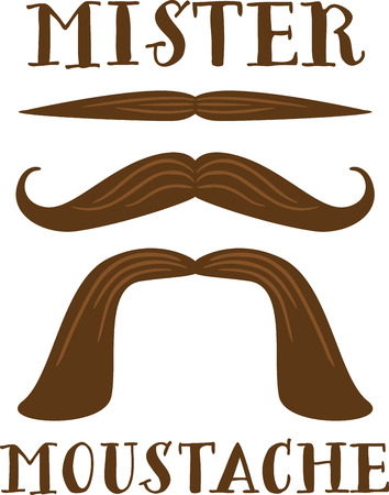 Make a manly set of moustaches for a fun project. Фото со стока - 43868012