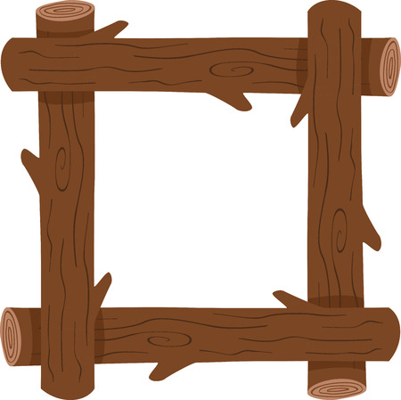 A rustic log frame is perfect for an outdoor themed project.