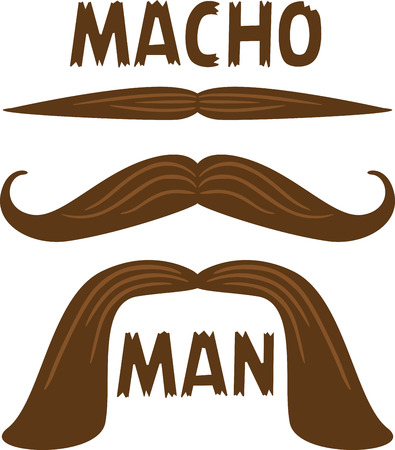 manly: Make a manly set of moustaches for a fun project.
