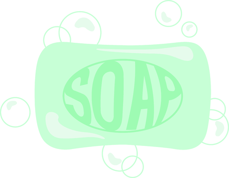 cleansing: Use this soap image to remind the kids to wash their hands Illustration