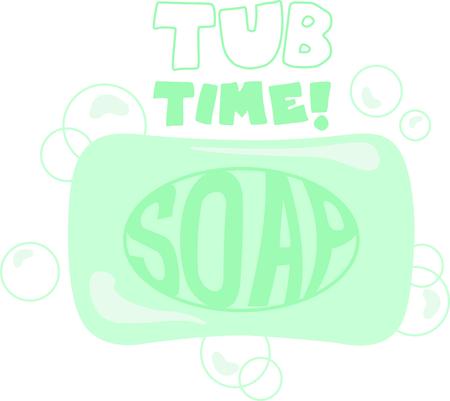 Gebruik dit beeld zeep om de kinderen eraan te herinneren om hun handen te wassen Stock Illustratie