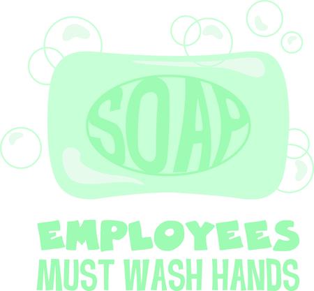 이 비누 이미지를 사용하여 아이들이 손을 씻도록 상기시킵니다. 스톡 콘텐츠 - 43868033