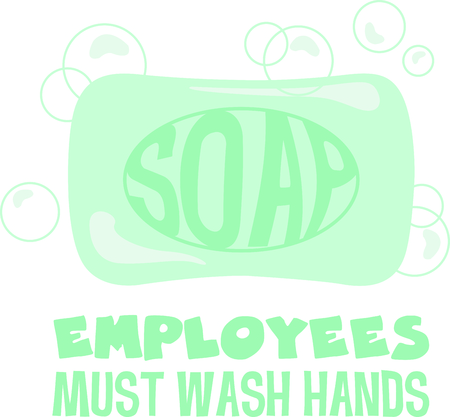 remind: Use this soap image to remind the kids to wash their hands Illustration
