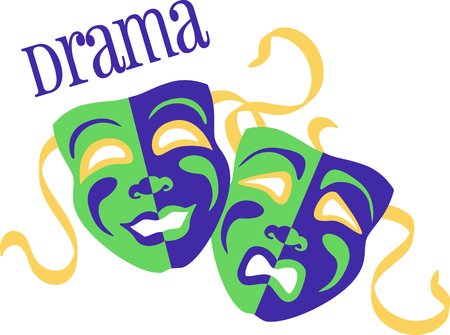 tragedy mask: If you enjoy the movies you will love having your own drama masks.