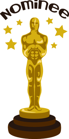 star award: If you enjoy the movies you will love having your own oscar.