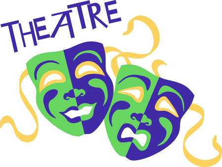 drama masks: If you enjoy the movies you will love having your own drama masks.