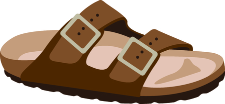 Get this sandal for your next design. 向量圖像