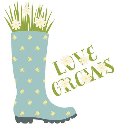 wellies: Cute polka dot Wellington boot planter for the flower gardener.