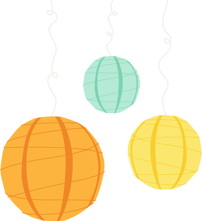 Use these balloons to decorate for a special occasion. Ilustracja