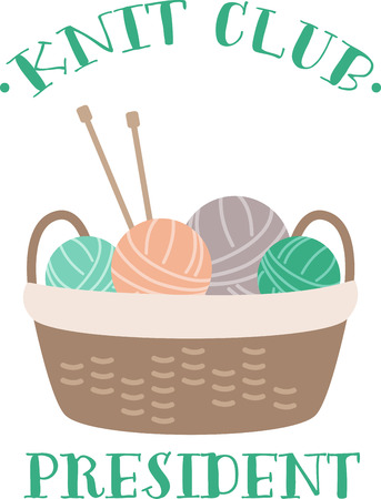 A cute basket full of yarn balls ready to knit.