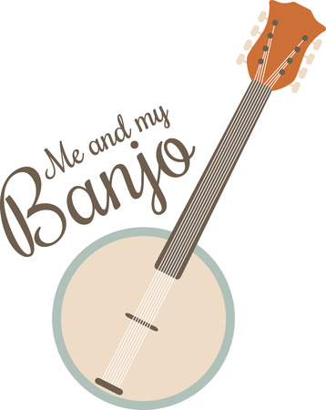streamlined: This streamlined banjo is perfect for country and bluegrass music fans. Illustration