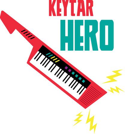 choc �lectrique: Rock your keytar avec des ondes de choc �lectriques.