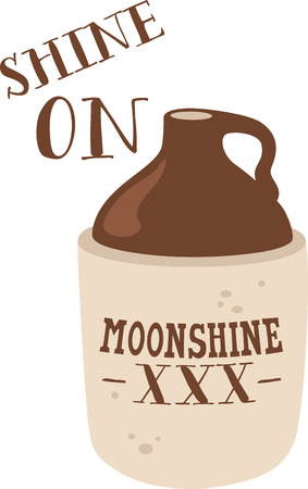 moonshine: Two-toned crock jug for your bar or kitchen decor.