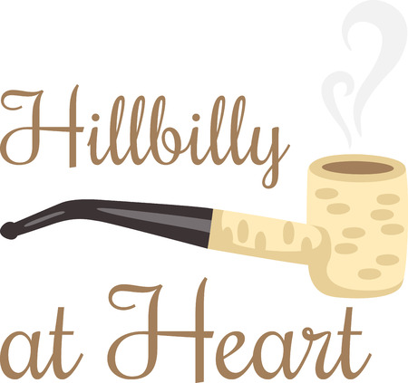 hillbilly: Smoking corncob pipe for that hillbilly in all of us.