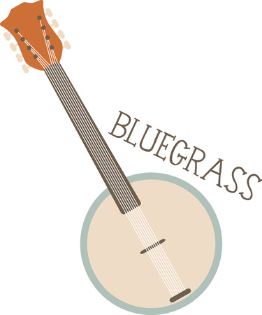 bluegrass: This streamlined banjo is perfect for country and bluegrass music fans. Illustration