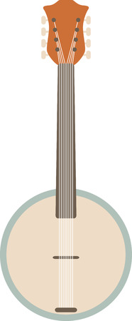 plectrum: This streamlined banjo is perfect for country and bluegrass music fans. Illustration
