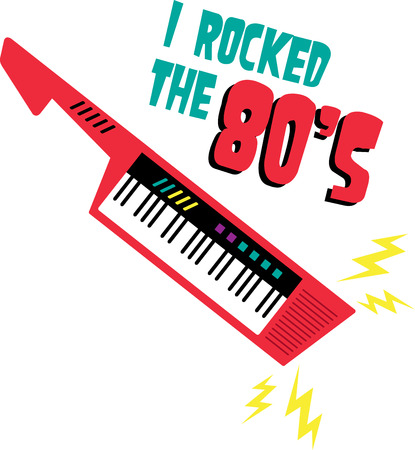 eighties: Rock your keytar with electric shock waves.
