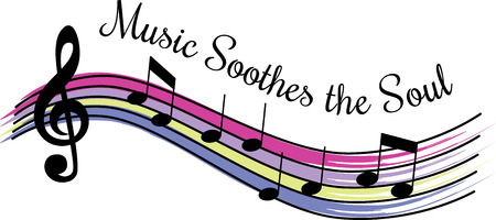Music lovers will love some colorful notes. Ilustracja