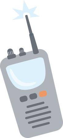 トランシーバー ラジオ、楽しいメッセージを送信する方法。 写真素材 - 44166582