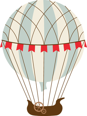 A travel theme project will look great with a vintage hot air balloon.