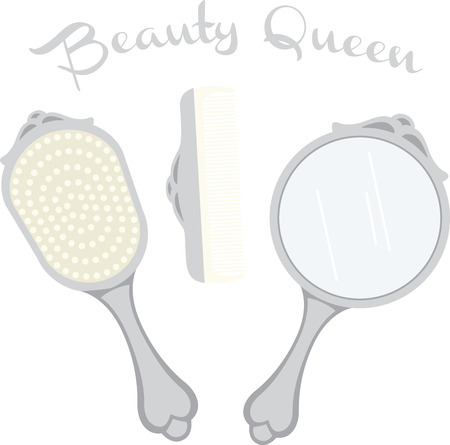 A ladys vanity set is a great accent for a powder room design.