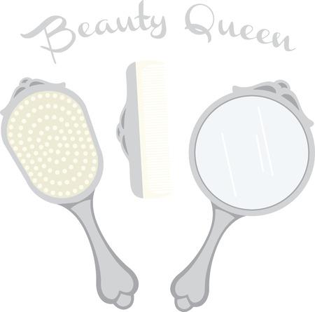 powder room: Sistema de la vanidad de una mujer es un gran acento para un dise�o de la sala de polvo.
