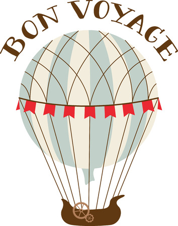 여행 테마 프로젝트는 빈티지 뜨거운 공기 풍선 큰 볼 것이다.