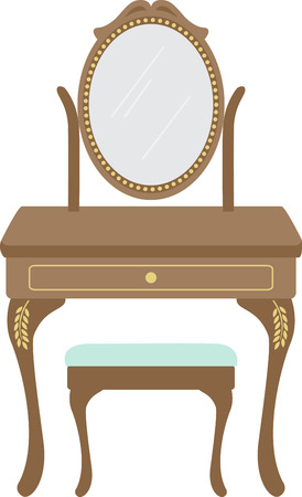 powder room: La vanidad de una mujer es un gran acento los muebles para un dise�o de tocador.