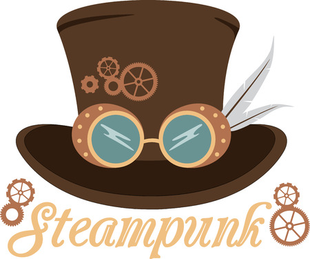 Dress up with a great steampunk hat.