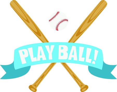 Esta bandera de béisbol con clase ofrece dos palos cruzados y una pelota de béisbol. Sería fantástico para usar para personalizar su chaqueta de béisbol favorito. Foto de archivo - 43868161