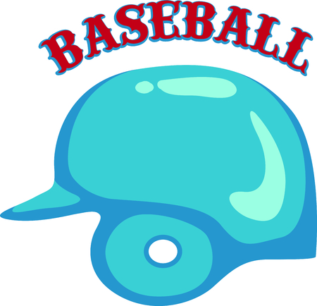 This baseball catchers helmet is a fun decoration for your baseball themed projects.  Great for the catchers duffle bag!