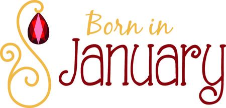 birthstone: Celebrate your January birthday with your birthstone, the garnet.