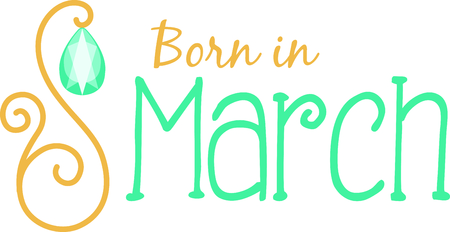 Celebrate your March birthday with your birthstone, the aquarmine. Imagens - 43868221